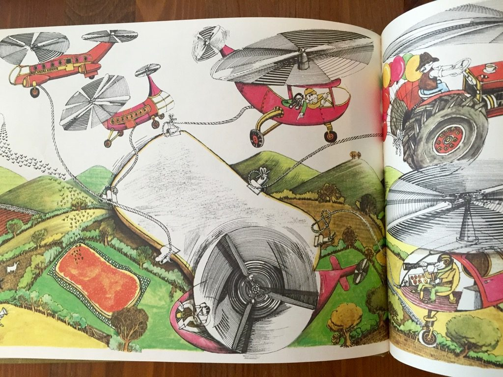 Artwork from the book Giant Jam Sandwich