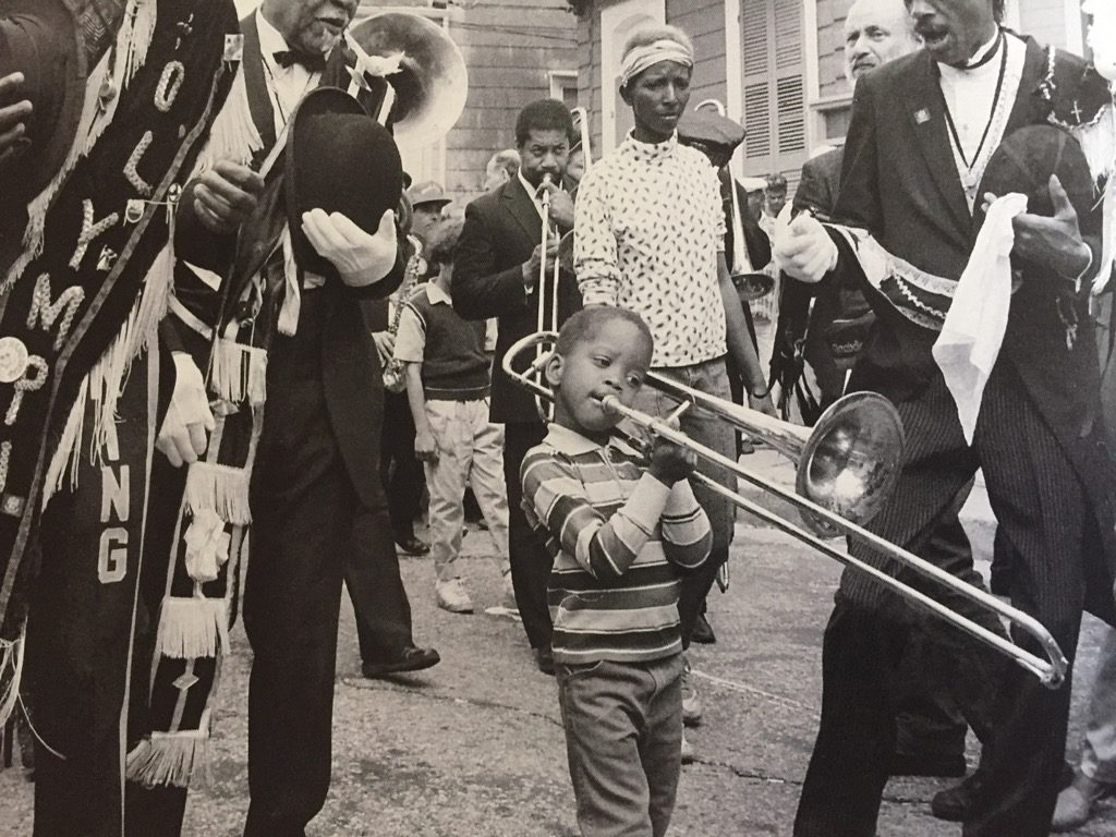 Photo of Trombone Shorty when he was a child