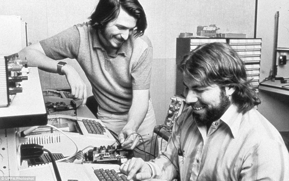 Steve Wozniak with Steve Jobs