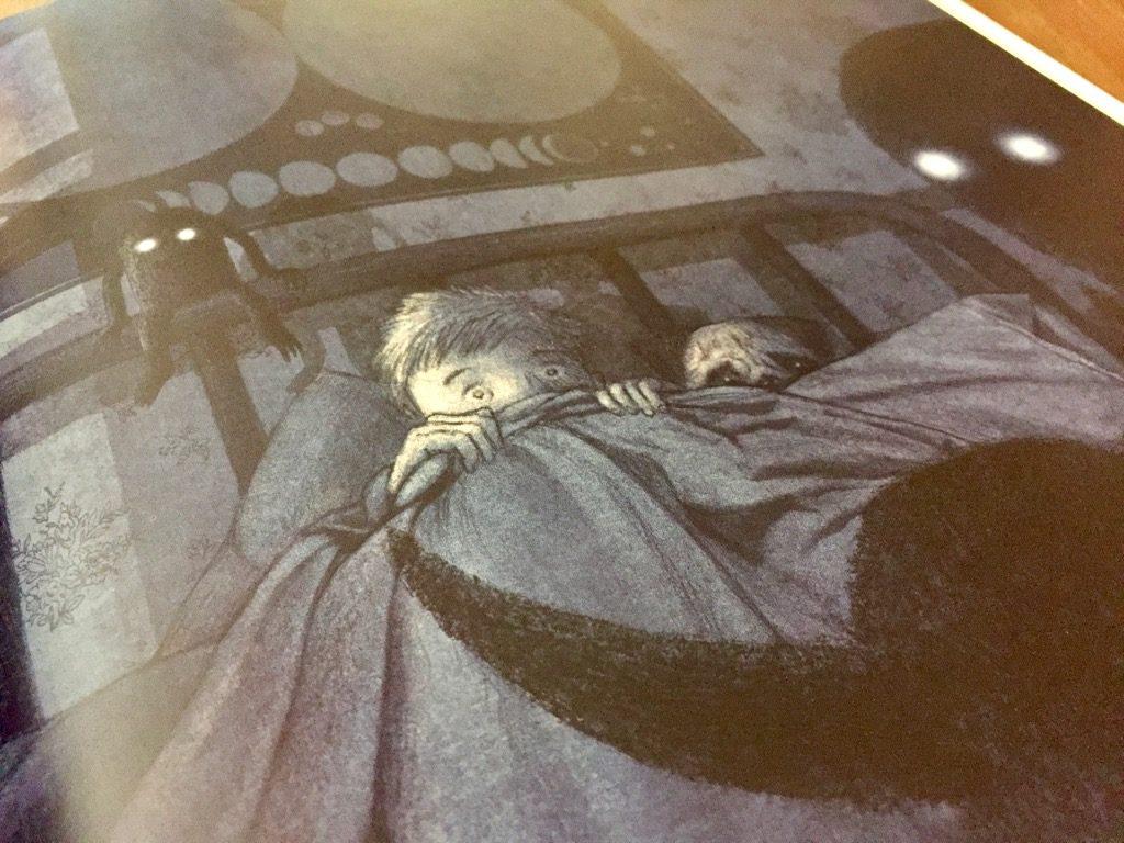 Artwork from the book The Darkest Dark