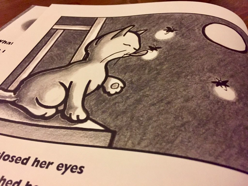 Artwork from the book Kitten's First Moon
