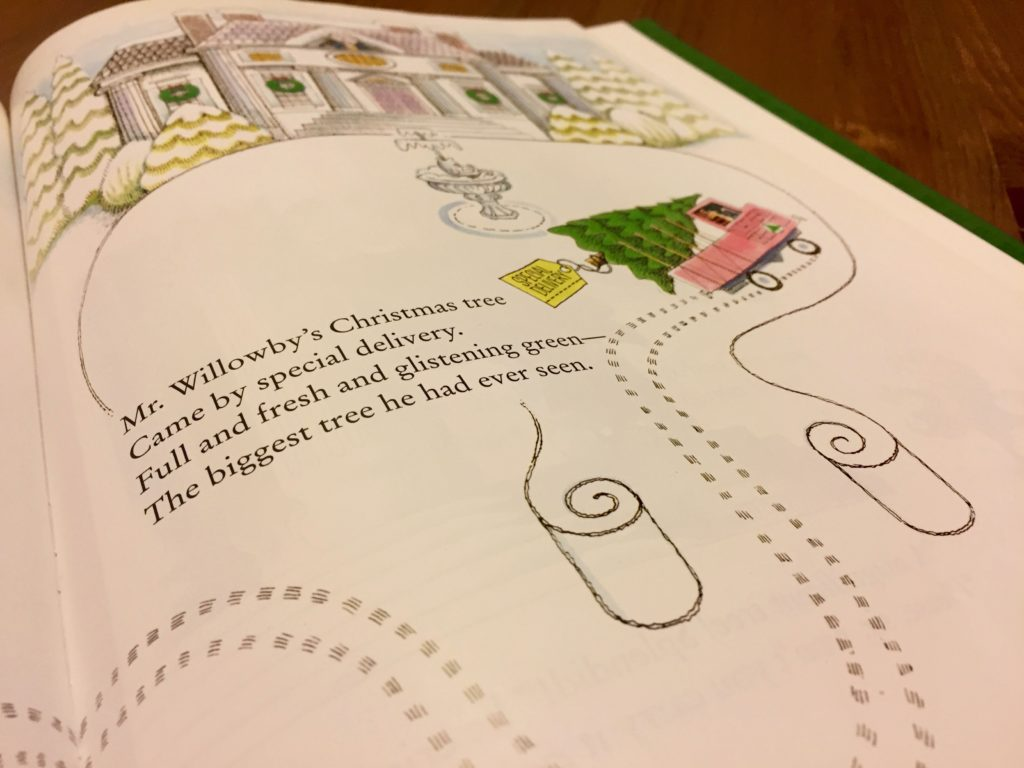 Artwork from the book Mr. Willowby's Christmas Tree