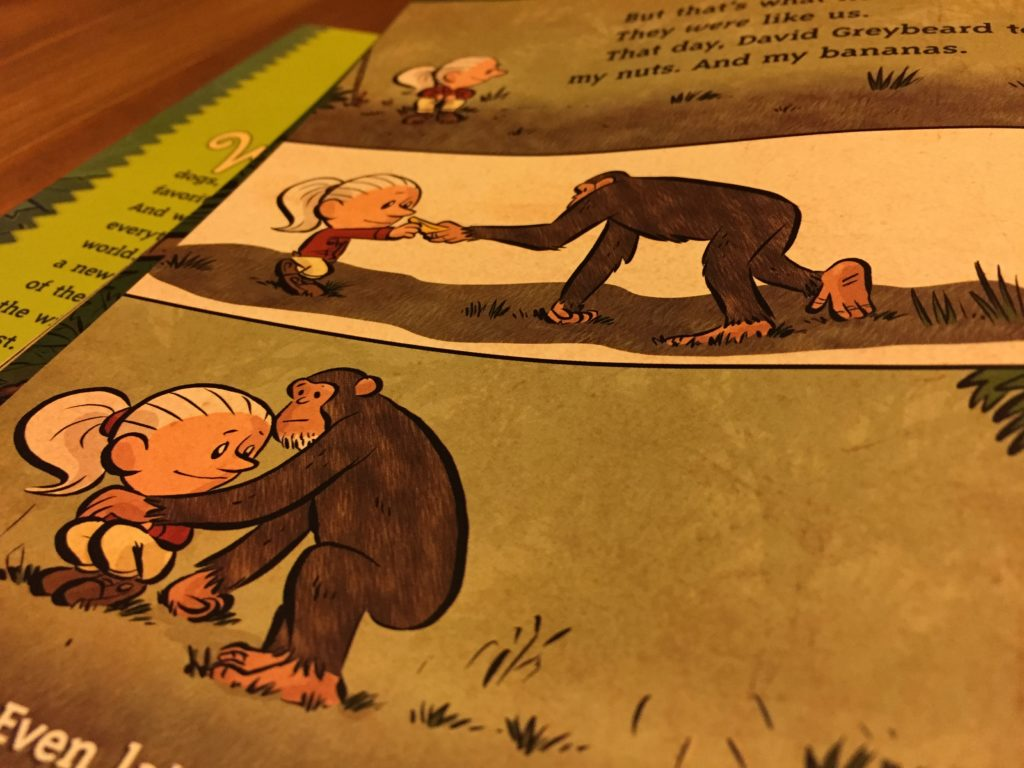 Artwork from the book I Am Jane Goodall